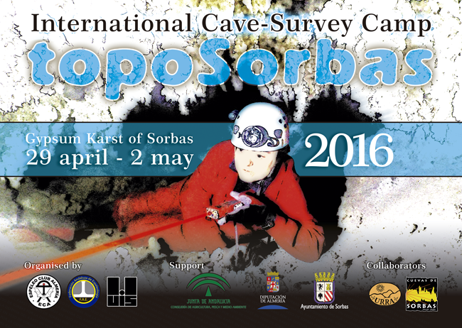 Cartel del International Cave Survey Camp - Toposorbas 2015